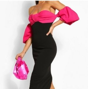 NWT, beautiful off-the-shoulder dress size 12